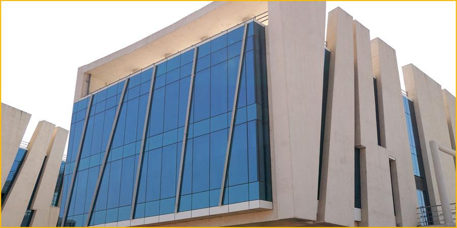 Unitized Glass Curtain Walls : Ajit india pvt ltd